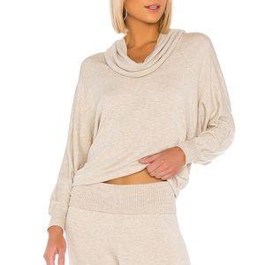 Splendid Super Soft Sweatshirt Heather Oatmeal Rib